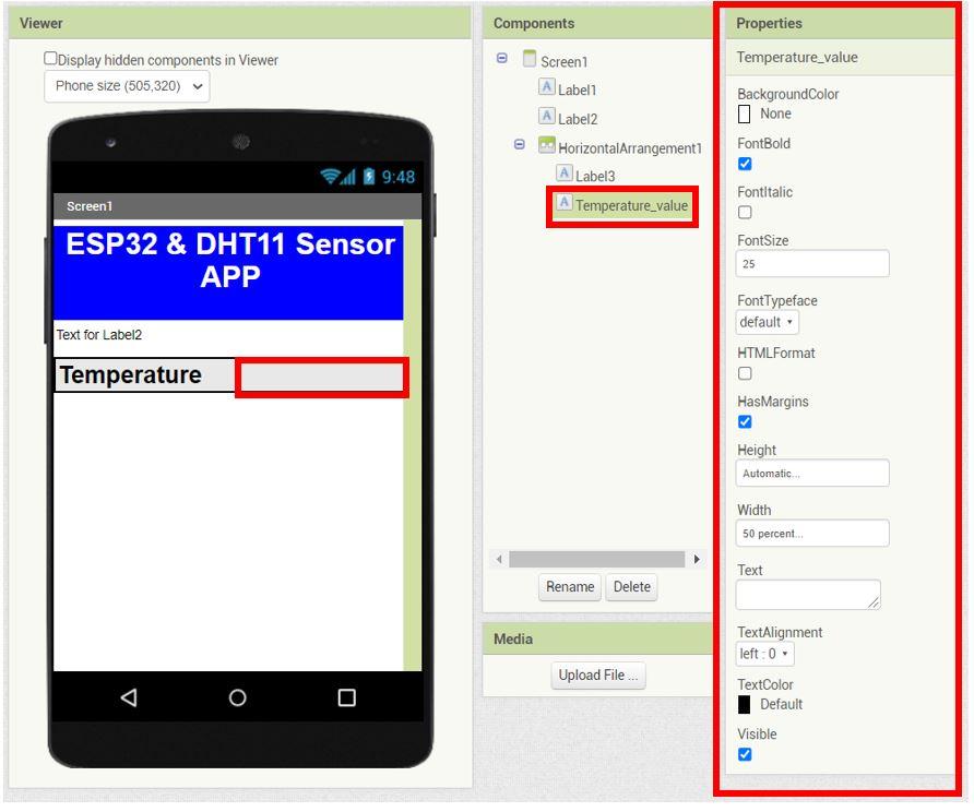 ESP32 Google Firebase build your own app MIT Inventor 7