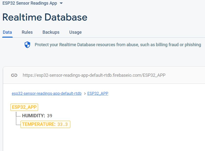 ESP32 Google Firebase build your own app demo google firebase