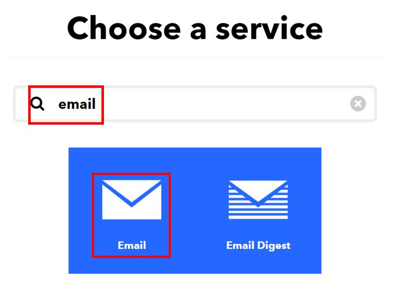 ESP32 HTTP POST IFTTT email service