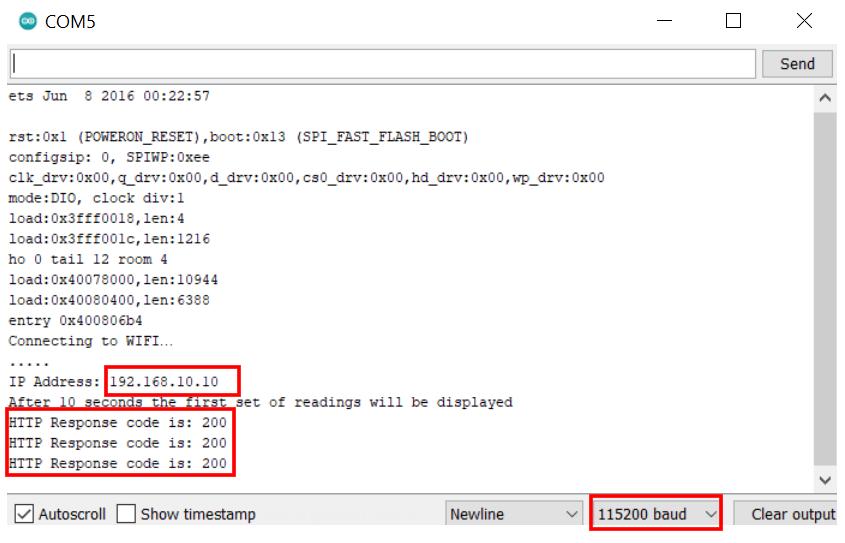 ESP32 HTTP POST IFTTT serial monitor demo