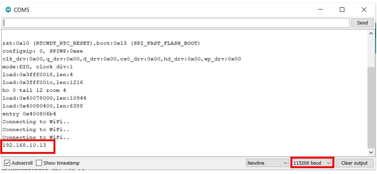 ESP32 WebSocket Server IP address