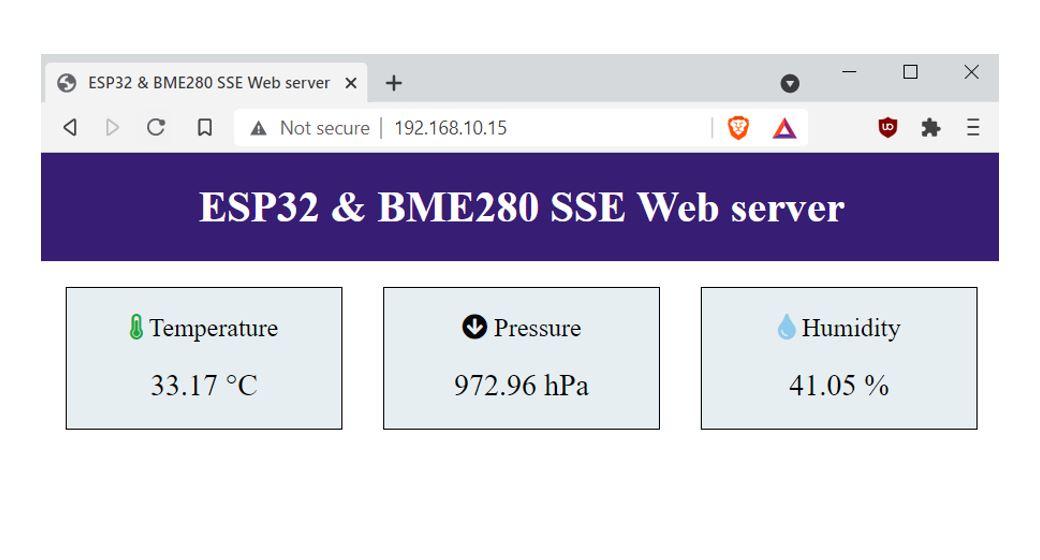 ESP32 and BME280 SSE Web server demo1