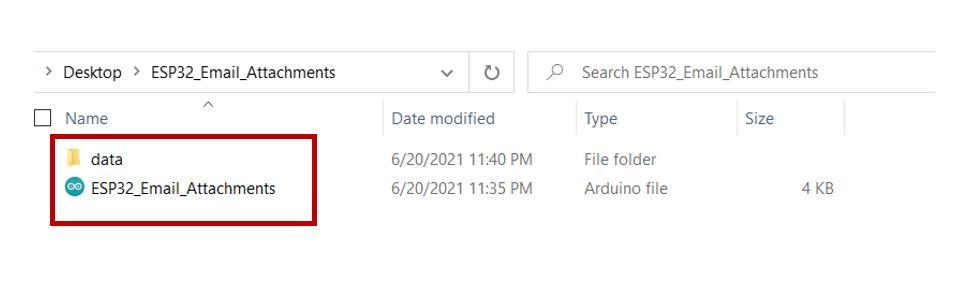 ESP32 email via SMTP server SPIFFS 2