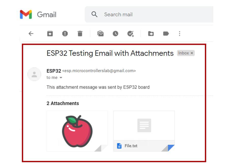 ESP32 email via SMTP server demo2