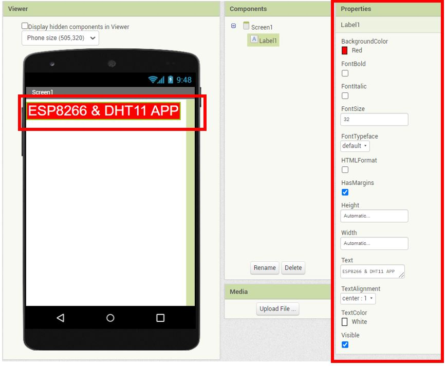 ESP8266 Google Firebase build your own app MIT Inventor 7