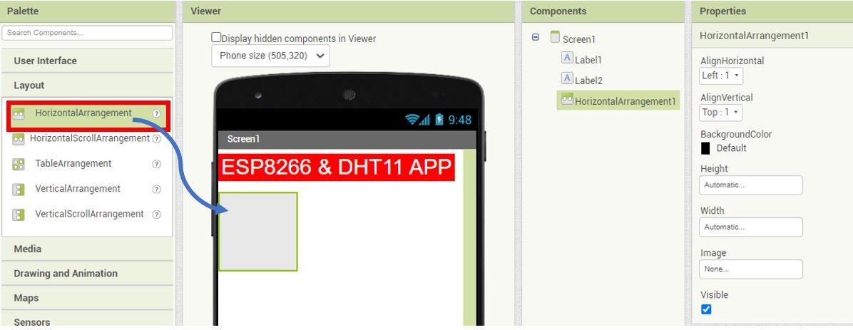ESP8266 Google Firebase build your own app MIT Inventor 8