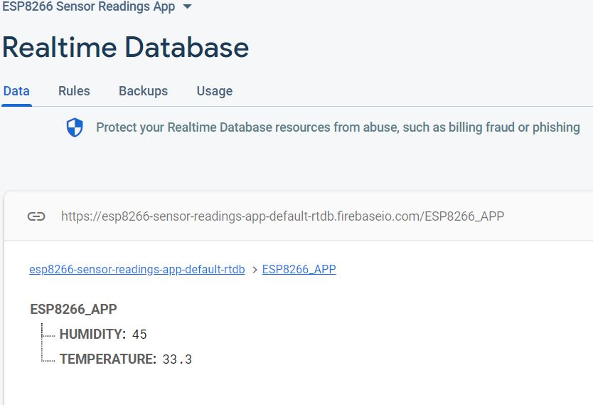 ESP8266 Google Firebase build your own app demo google firebase