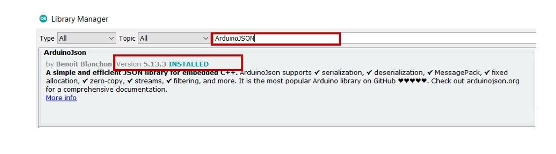 Google Firebase ArduinoJson library