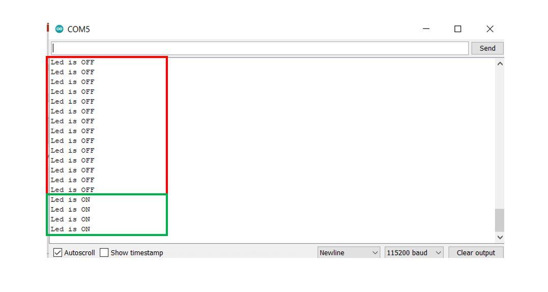 Google Firebase demo serial monitor2