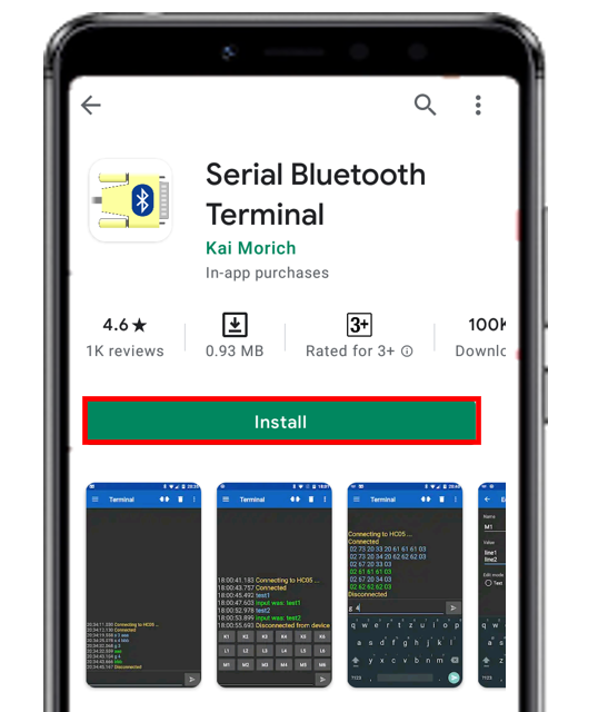 Serial Bluetooth app