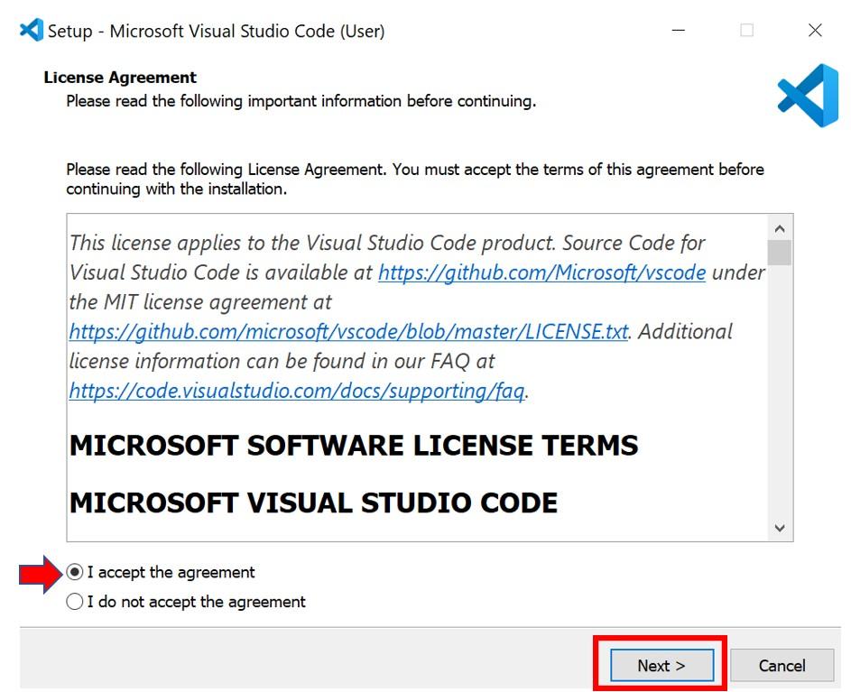 VS Code installation 2