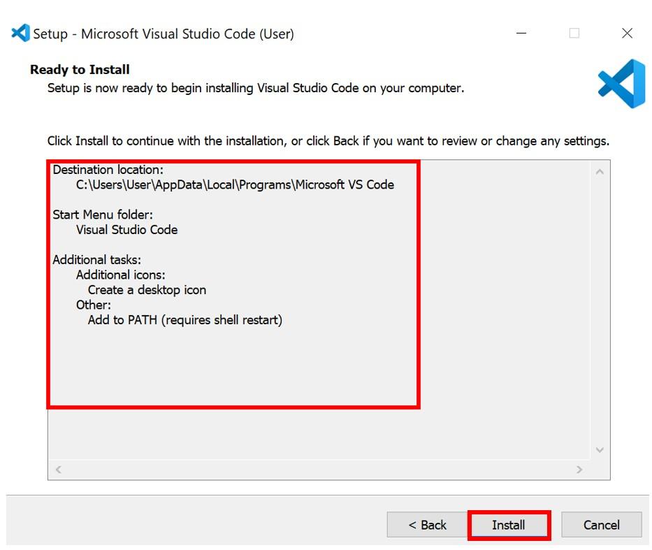 VS Code installation 5