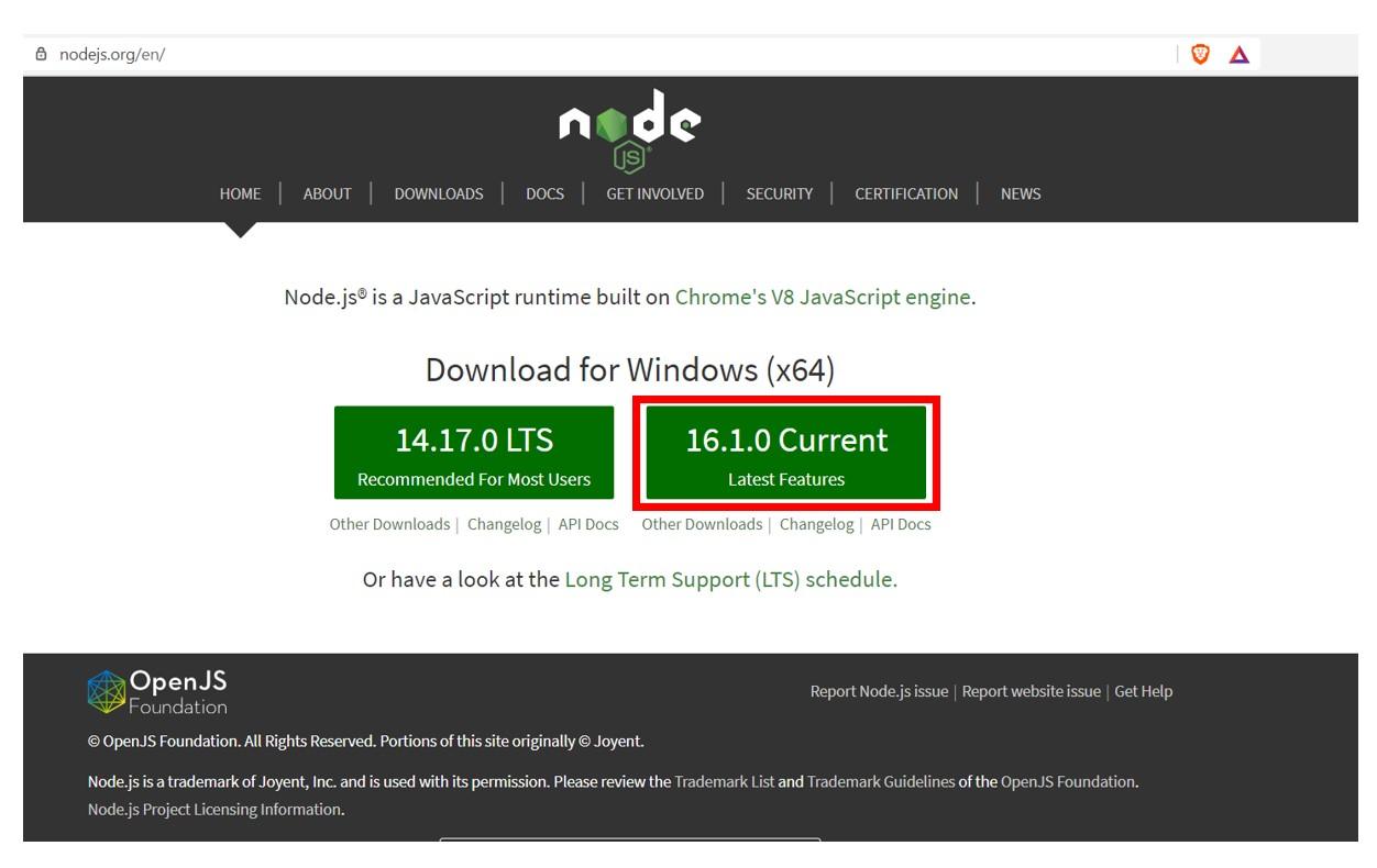 install node.js