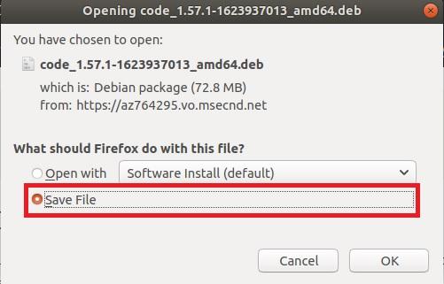 installing vs code in linux