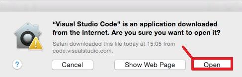 installing vs code macos