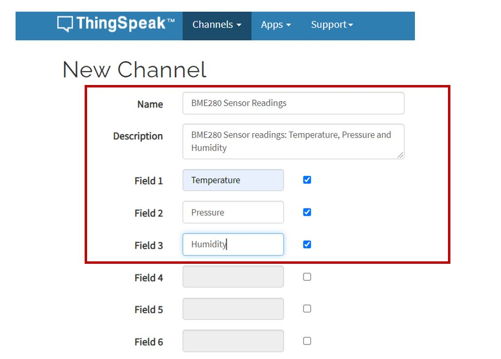 thingspeak create new channel multiple fields1