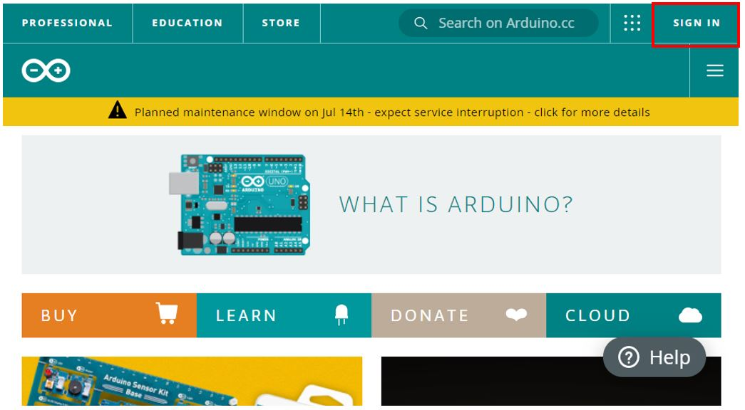 Arduino IoT cloud getting started 1