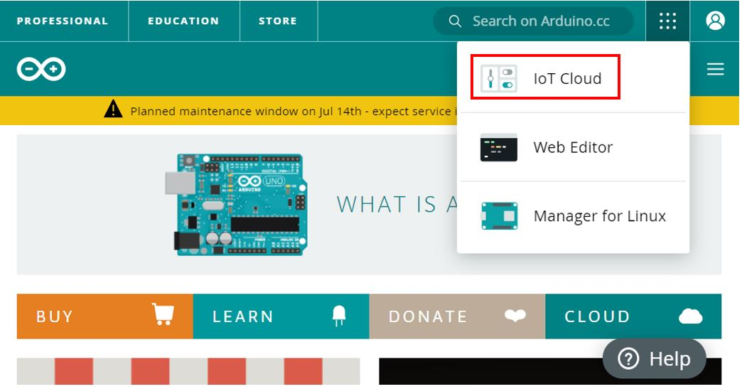 Arduino IoT cloud getting started 4