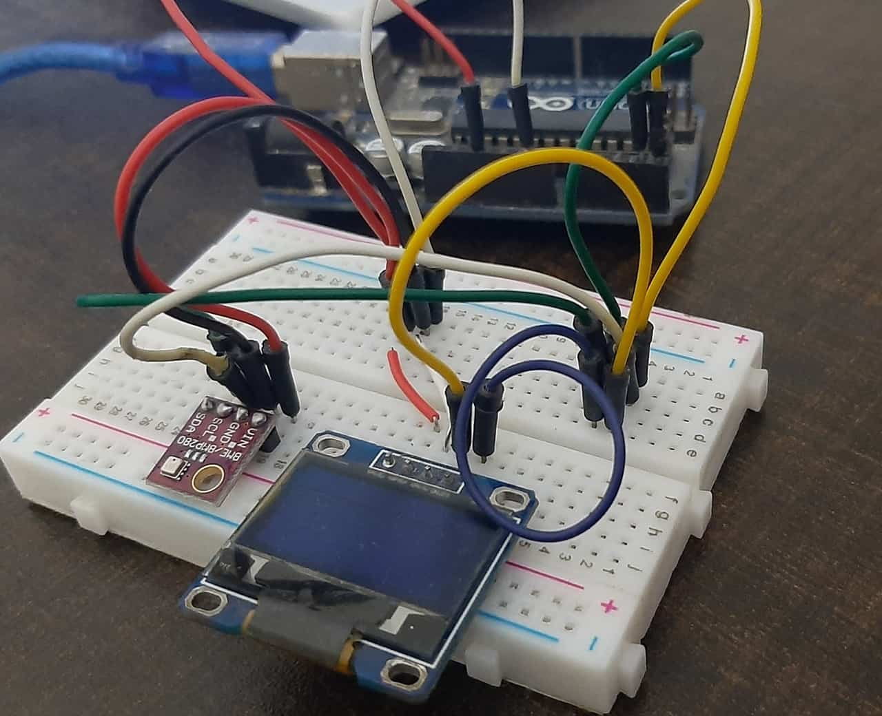 BME280 with Arduino Display Readings on OLED ( Arduino IDE)