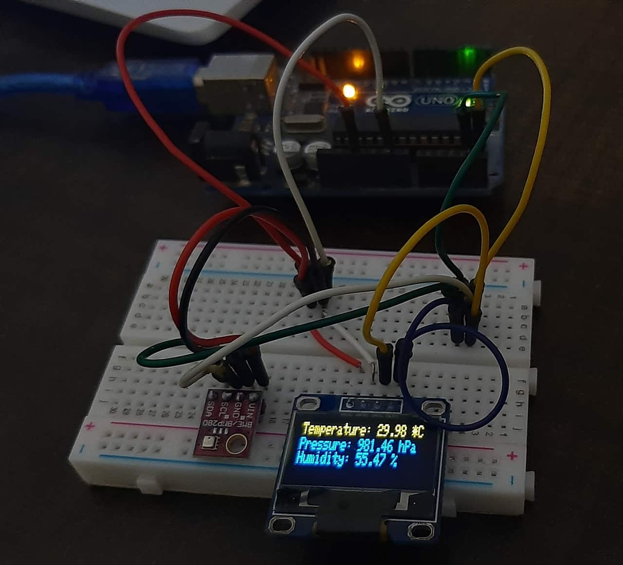 BME280 with Arduino and OLED