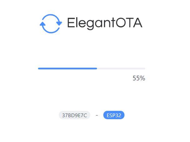 ESP32 OTA updates via AsyncElegantOTA example2 demo1