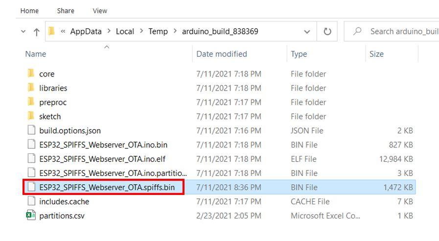 ESP32 OTA updates via AsyncElegantOTA example3 pic3
