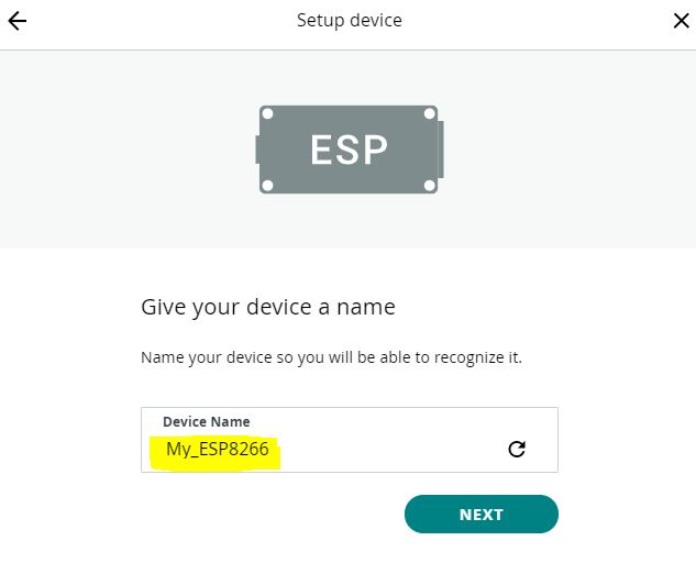 ESP8266 Arduino IoT cloud selecting device name