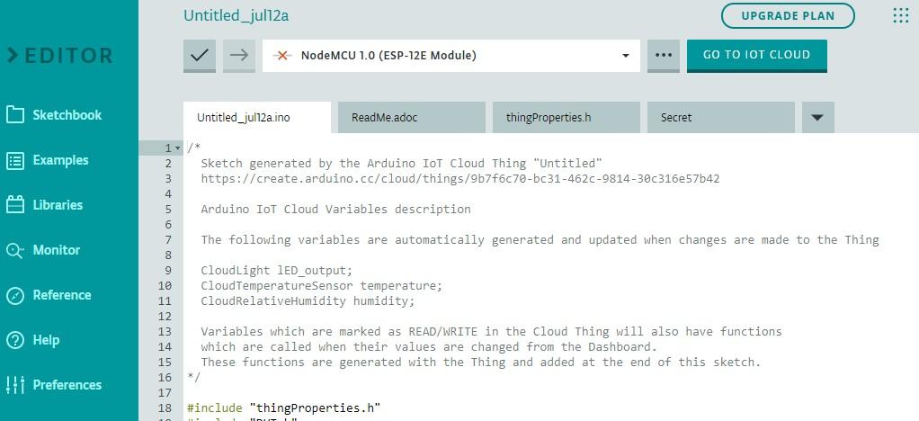 ESP8266 Arduino IoT cloud sketch1