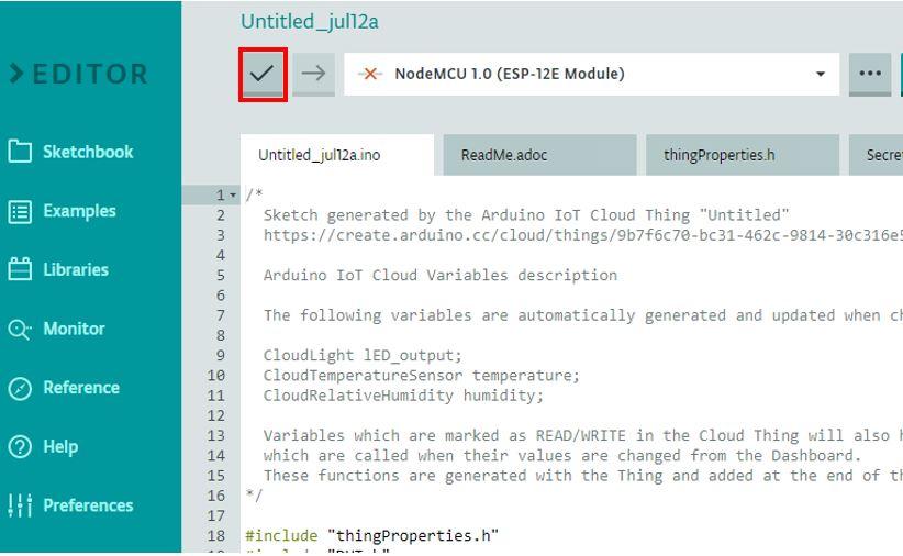 ESP8266 Arduino IoT cloud sketch2