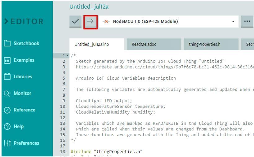 ESP8266 Arduino IoT cloud sketch4