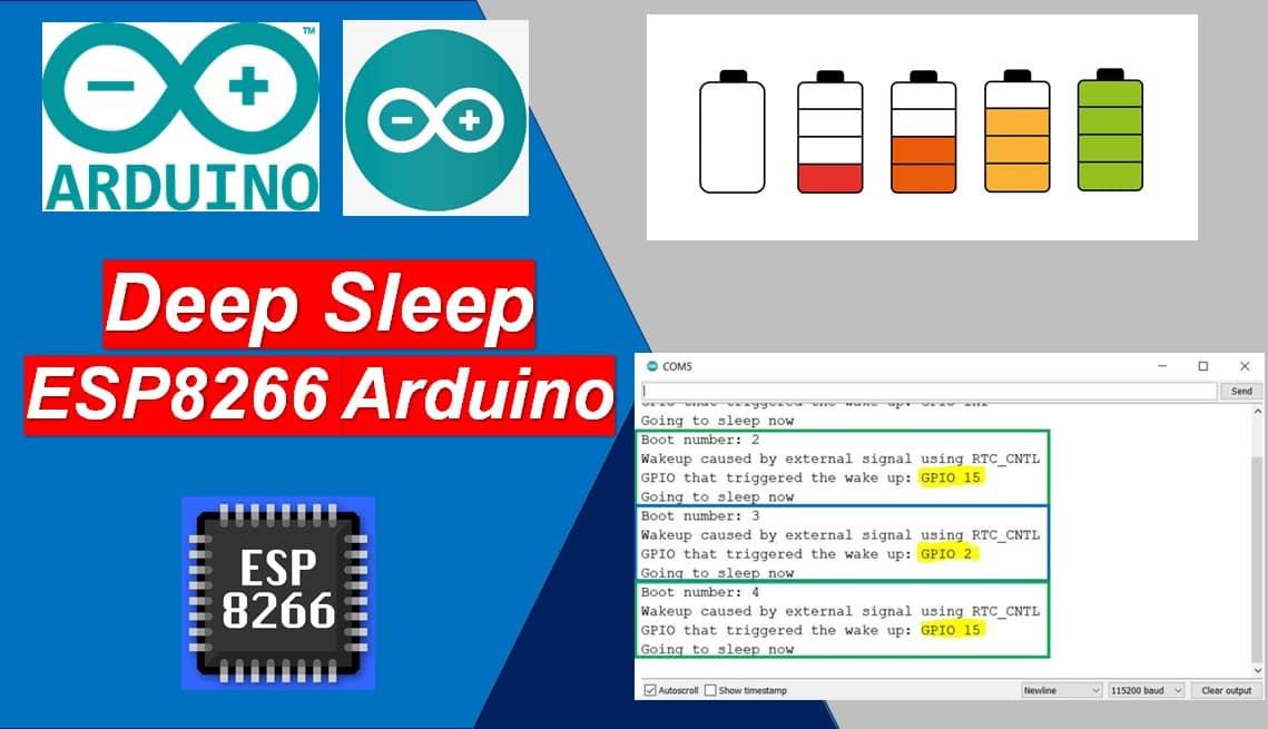 ESP8266 Deep Sleep and Wake Up Sources using Arduino IDE