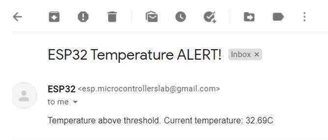 Email Alert web server demo1 email