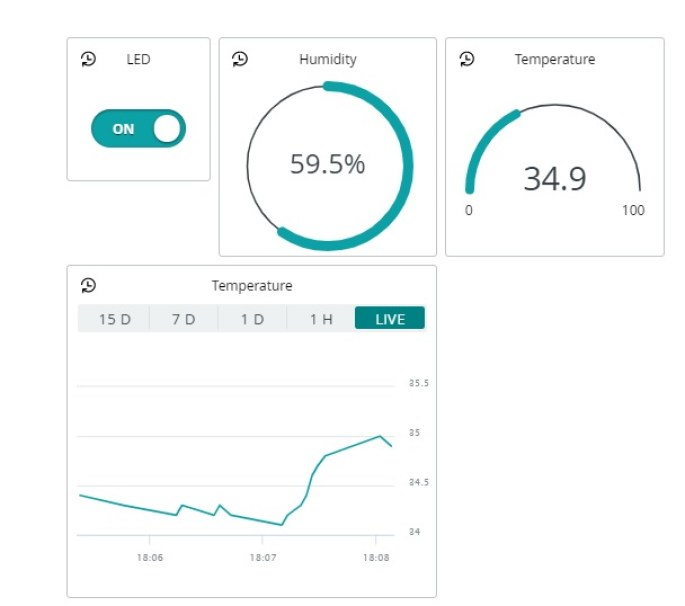 Getting Started with Arduino IoT Cloud using ESP8266 NodeMCU Send Sensor Readings and Control Outputs