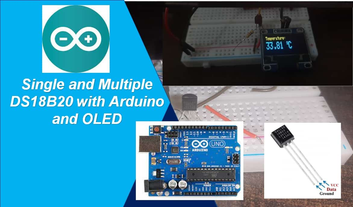 Interfacing Multiple DS18B20 with Arduino and Display Readings on OLED