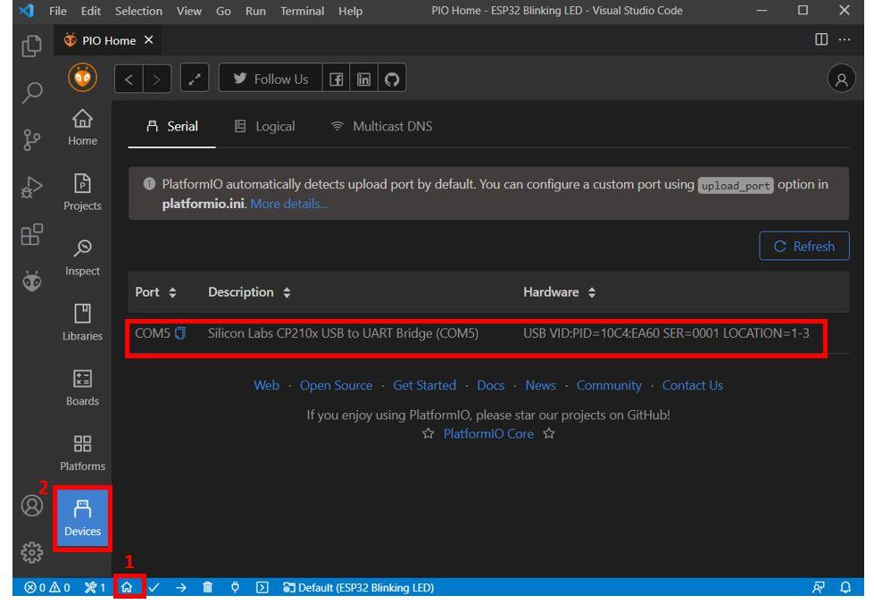 VS Code with PlatformIO 20