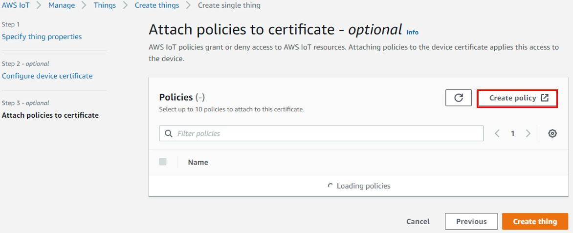 AWS creating policy