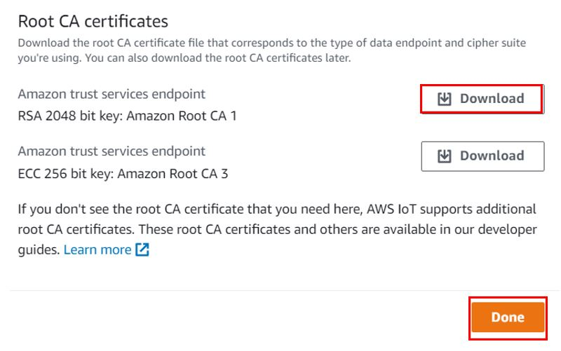 AWS device certificate and keys pic2