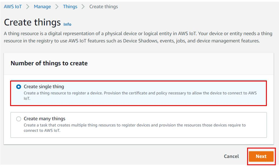 AWS getting creating thing pic2