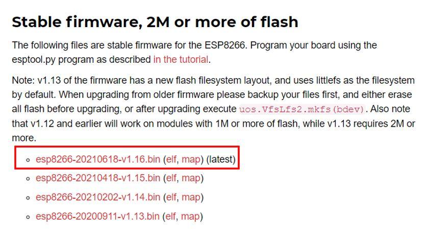 ESP8266 MicroPython firmware download