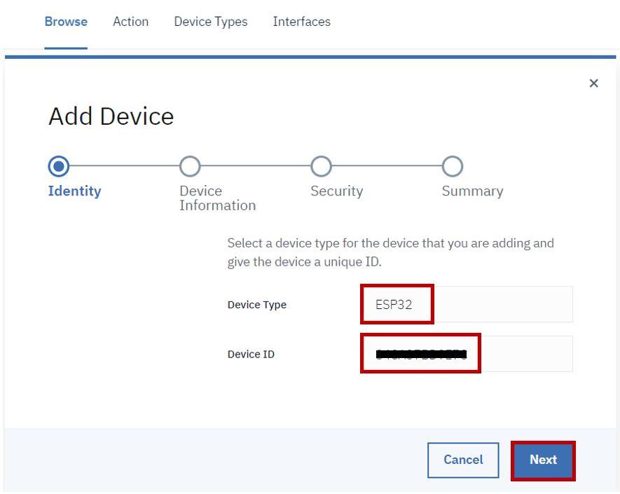 IBM cloud platform add device pic1