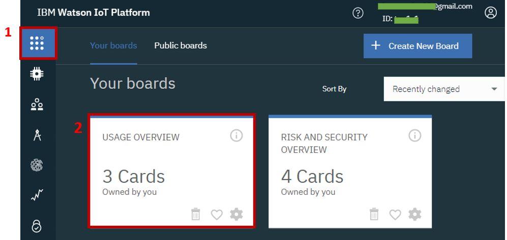 IBM cloud platform building dashboard pic1