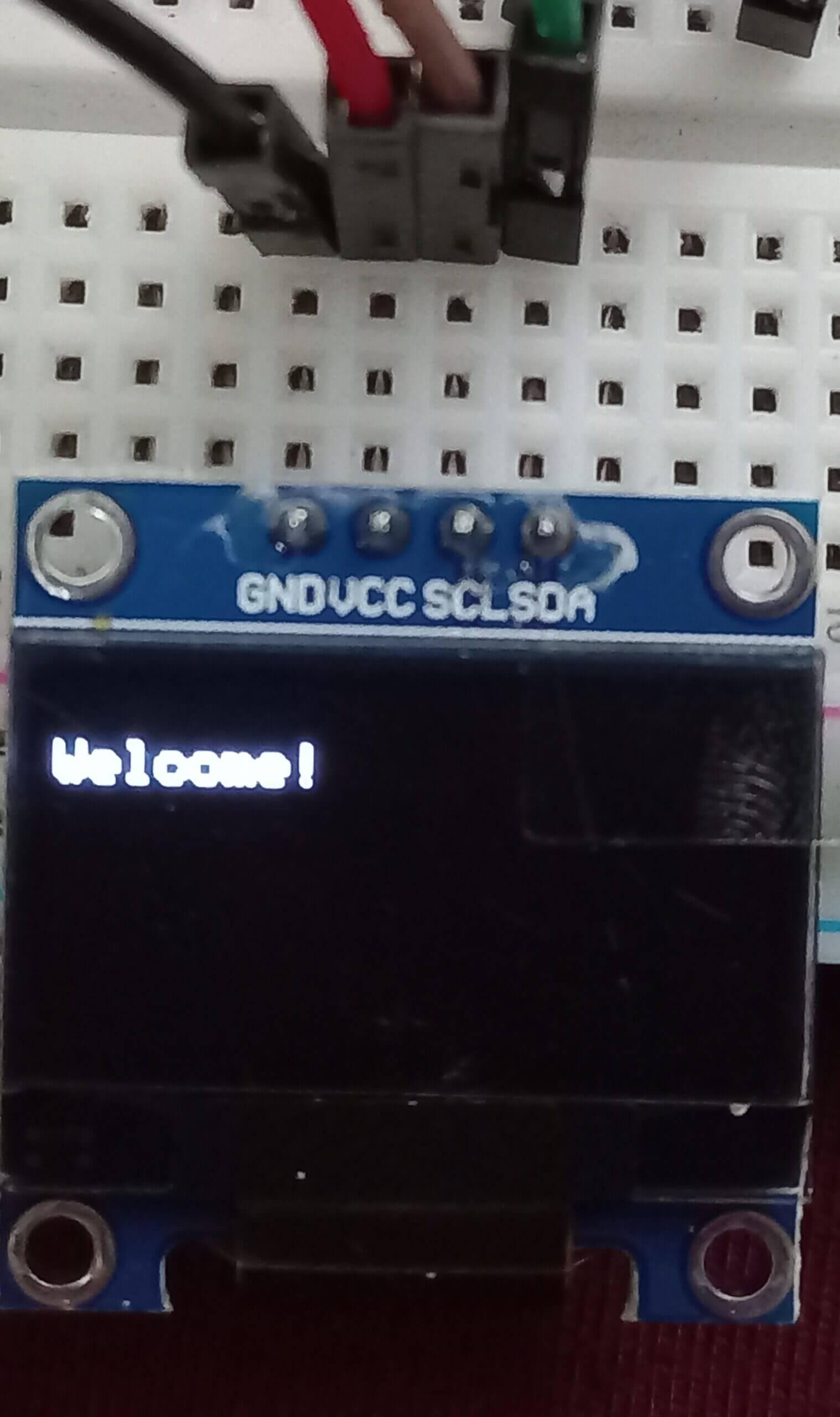 OLED display simple text