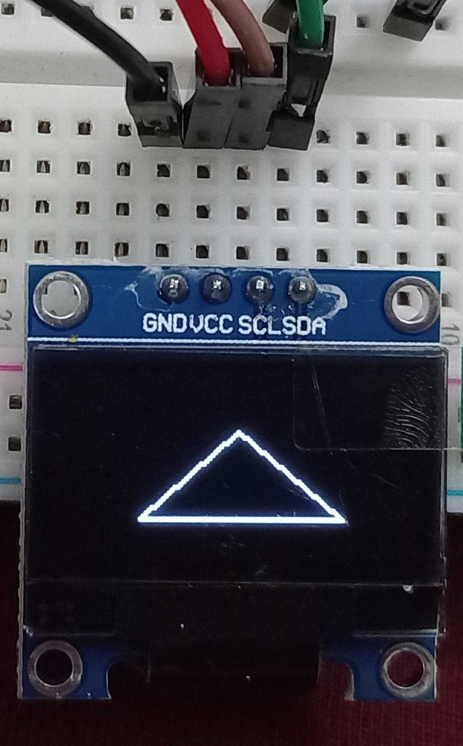 OLED display triangle