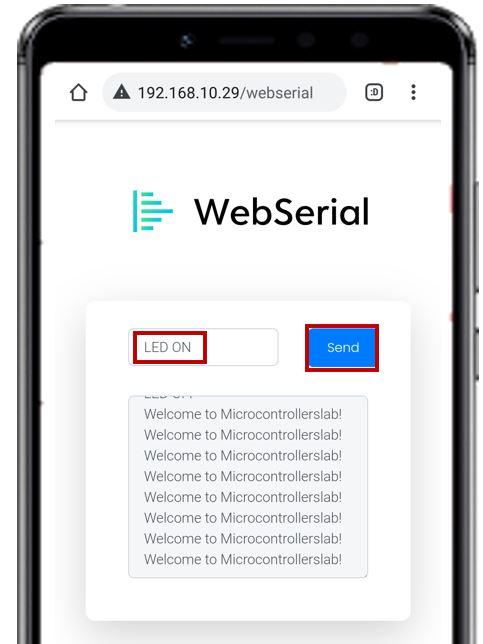 Web serial monitor ESP32 demo pic3