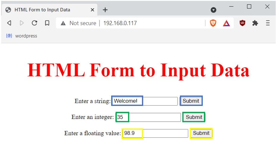 input data on HTML form web server Example1 pic4