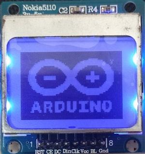 Arduino Nokia 5110 LCD display bitmap images