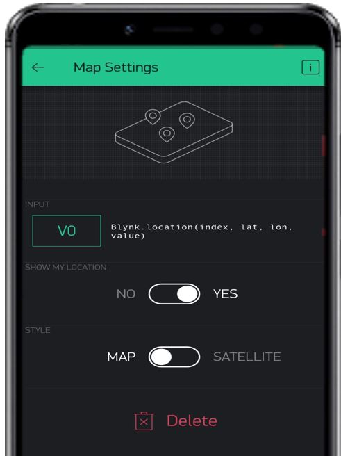 Blynk app GPS tracker pic4