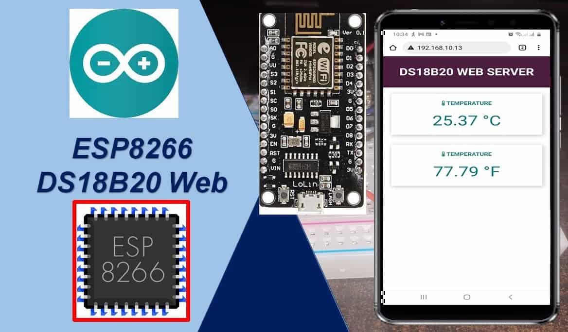 DS18B20 web server esp8266