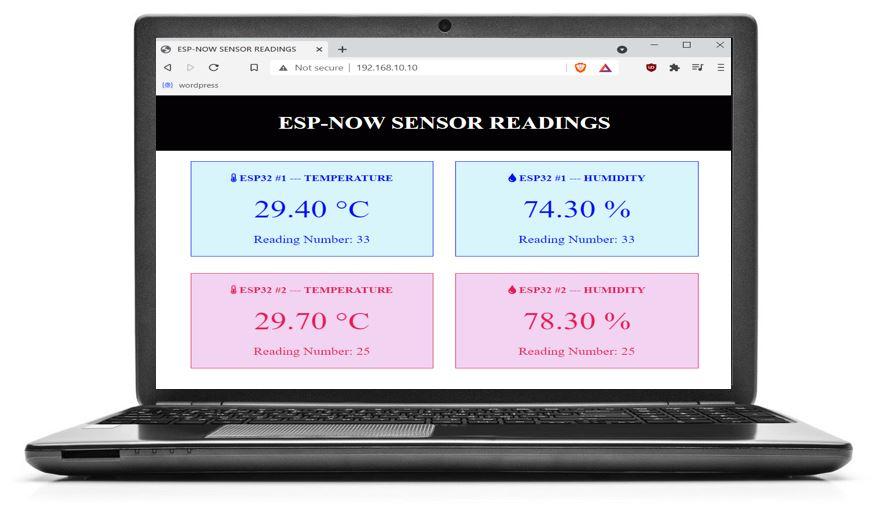 ESP NOW and WiFi web server