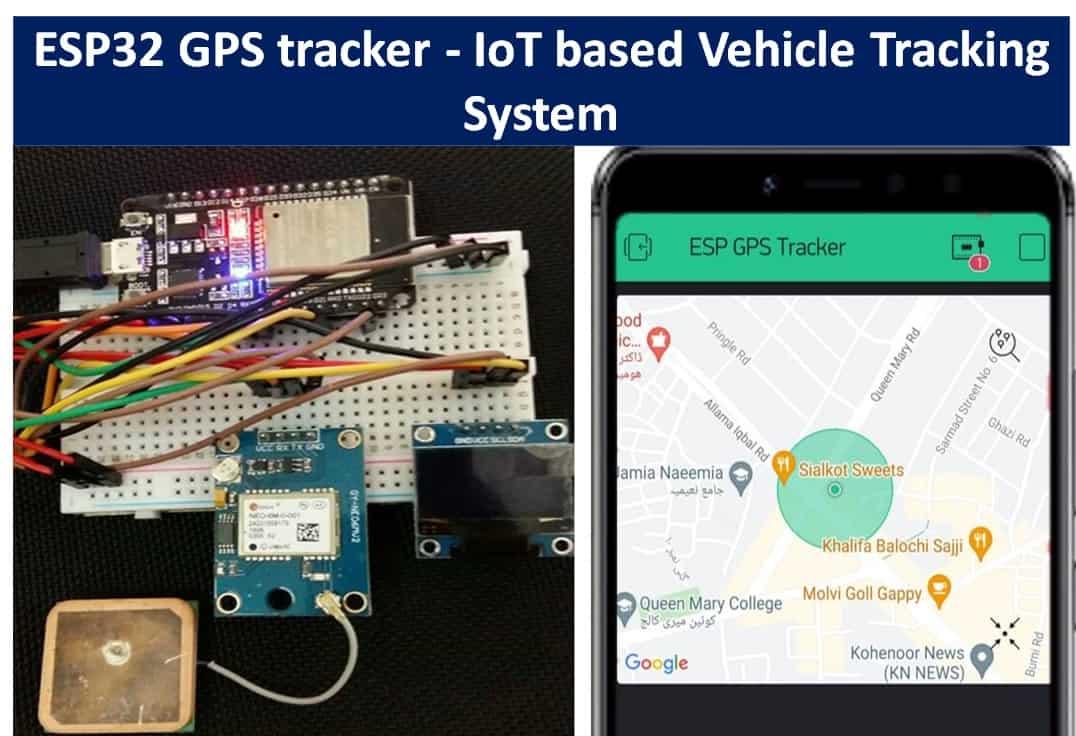 ESP32 GPS tracker IoT based Vehicle Tracking System